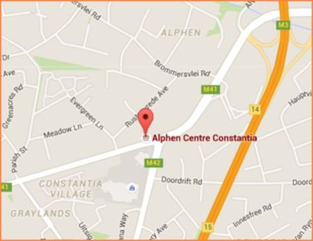 Map of where to find Alphen Centre