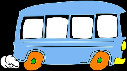 cartoon of bus