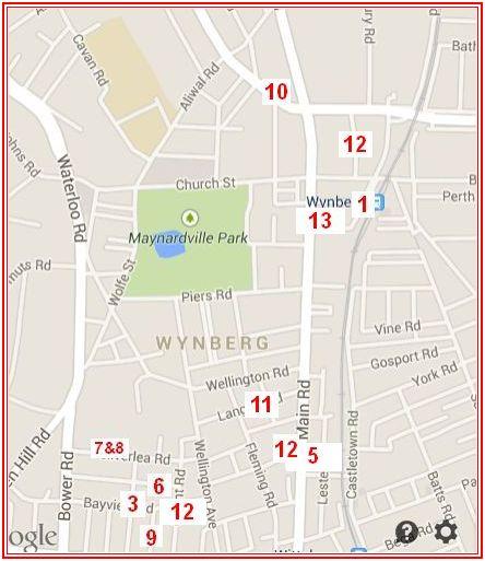 Crime hot spots Wynberg Jul Aug 2014