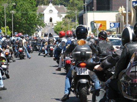 Previous Toy Run - waiting to turn into Maynardville
