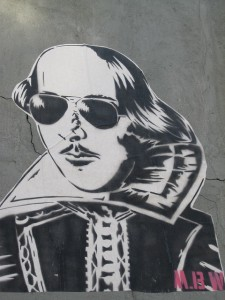 William Shakespeare wearing sunglasses