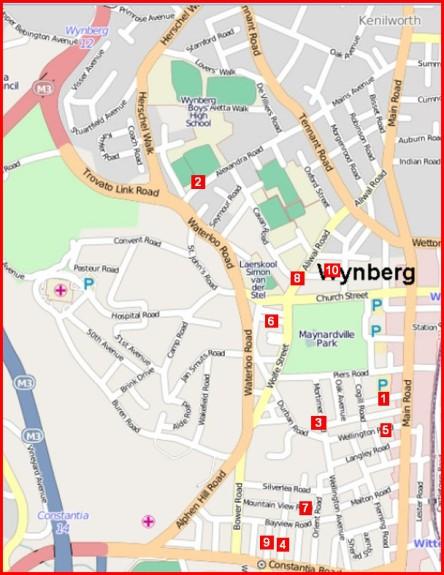 Crime hot spots Wynberg burglaries map