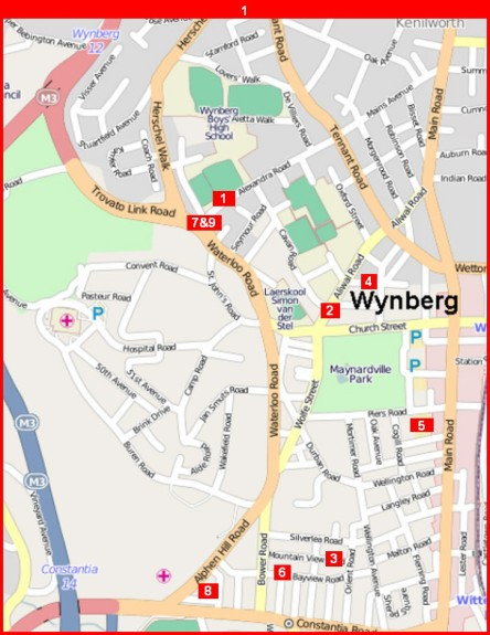 Wynberg vehicle theft hot spots: map