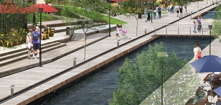 artists impression of proposed canal