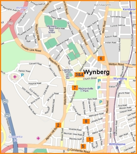 Map of hotspots of Wynberg april house burglaries
