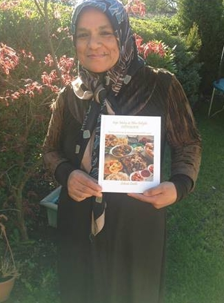 Salwaa Smith with her book