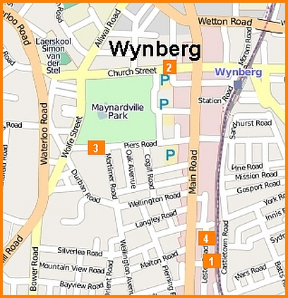 Map of common robberies