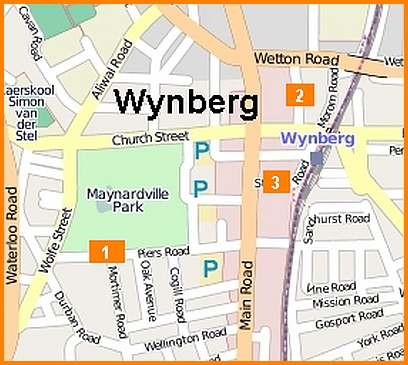 Map of aggravated robberies with weapon other than firemarm