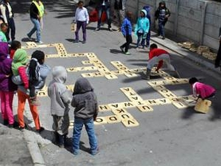 Scrabble at Langa Open Streets earlier this year