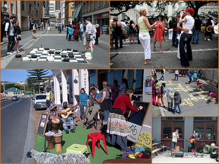 Open streets collage