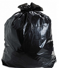 pic of black refuse bag