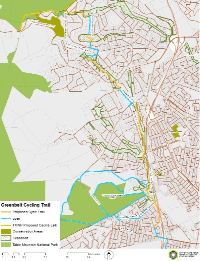 Map of proposed cycle trail