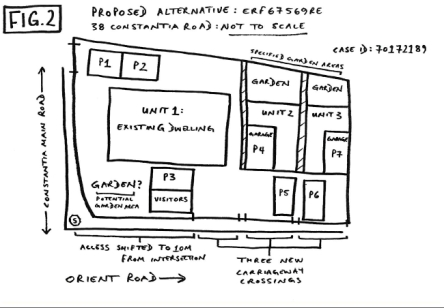 Rough sketch of plan as proposed by WRRA, with moved gate etc