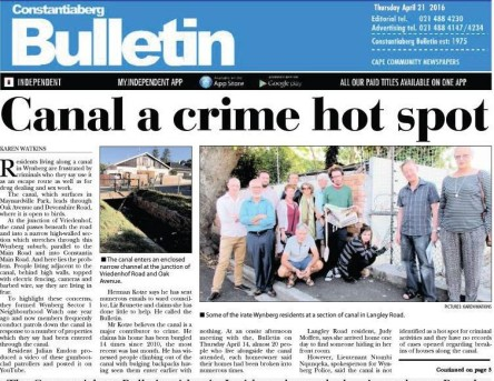 cover of constantia bulletin on canal