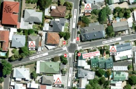 Picture of where raised intersection betw Bayview and Orient will go