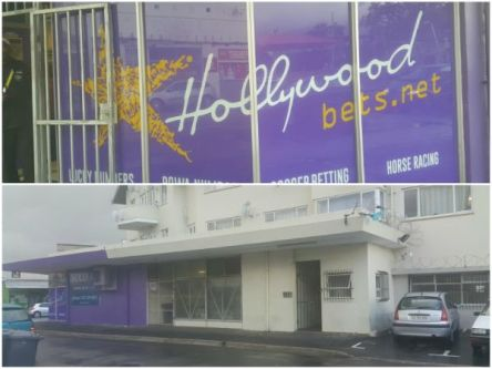 Collage: picture of hollywood Bets and flat abouve it.