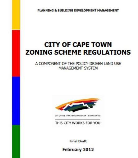 Cover page of the City's 2012 zoning regulations