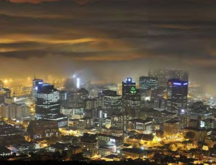 Cape Town CBD by night from up high