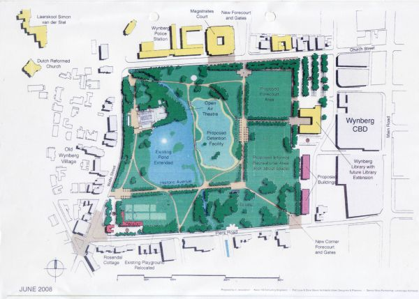 picture of planned retention pond