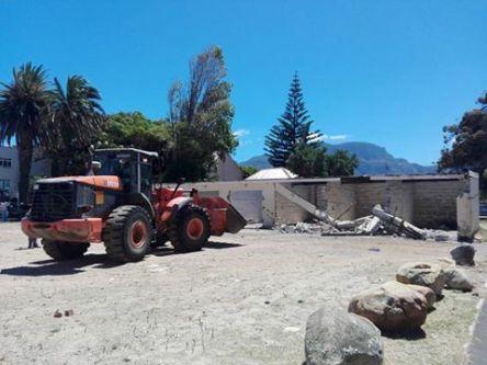 Demolition of garages under way