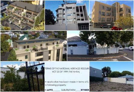 Collage of proposed and current developments in Wynberg