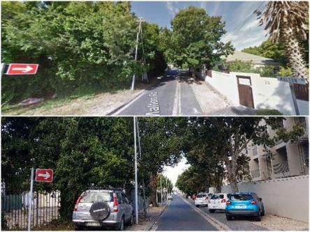 Picture showing Malton road before and after