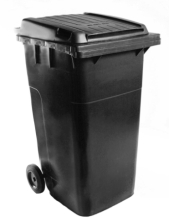 Picture of black wheelie bin
